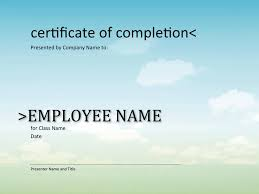 certificate of completion template template free download