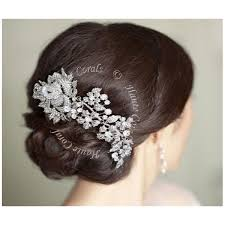 bridal hair combs ulunma flower austrian bridal hair comb hautecorals