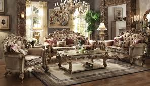 livingroom set furniture vendome formal living room set in gold