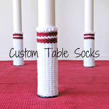 custom table socks stool socks chair socks in eco yarn w tree