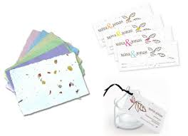 seed paper wedding favors plantable seeded paper for eco friendly wedding stationery the