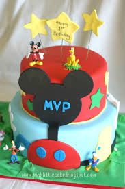 pink little cake mickey mouse clubhouse cake