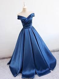 formal gowns navy blue prom dresses 2018 satin party dresses formal gowns