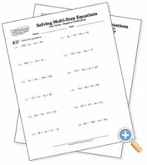 variable on one side solving two step equations worksheetworks com