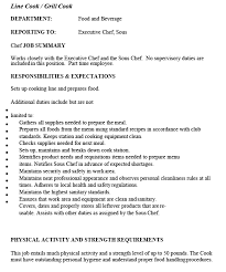 Sample Line Cook Resume by Employment Opportunities