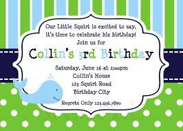 printable birthday invitations little boys party invites