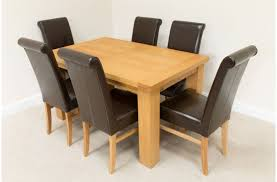 design for oak dinning table ideas 26249 oak dining table and 6 chairs