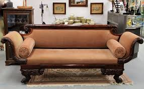 Old Fashioned Sofa Styles Found In Ithaca Antique Custom Made Hand Carved New York Empire