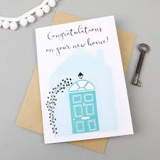 congratulations on new home greetings card