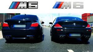 bmw m6 v10 bmw m6 sound v10 exhaust acceleration vs bmw m5 e60 revs revving