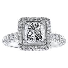 princess cut white gold engagement rings 18kt white gold engagement ring with center 1 55ct f vs2