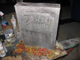 gravestones for halloween dave lowe design the blog 14 days u0027til halloween fed ex box