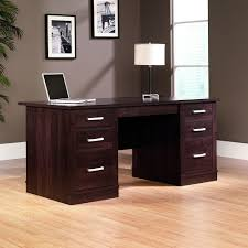 Computer Desk With File Cabinet by Amazon Com Sauder Office Port Executive Desk In Dark Alder