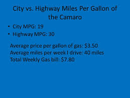 camaro per gallon a comparison of two cars i would like to own a camaro and a