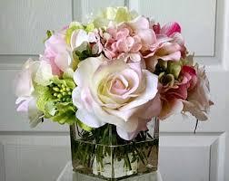 Fake Flower Centerpieces Silk Flower Arrangement Etsy