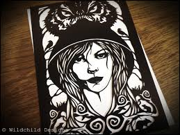 little red riding hood paper cutting template gothic fairytale zoom