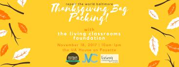 repair the world packing thanksgiving bags volunteer