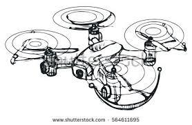 hand draw vector sketch drone stock vector 564611695 shutterstock