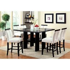 high dining room table and chairs dining room counter height dinning 6 piece dining table set 7