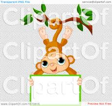 monkey hanging from a tree clipart clipartxtras