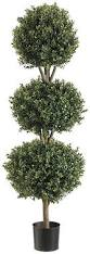 Topiary Balls With Flowers - amazon com silk decor 4 feet tri ball boxwood topiary plant