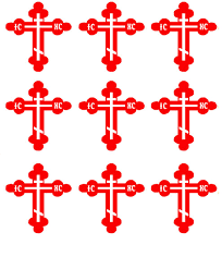 orthodox crosses stbud orthodox cross stickers budded cross st joseph school