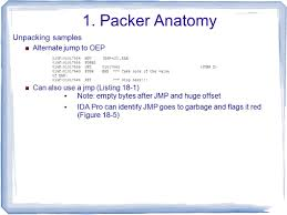 Packer Flags Part 5 Anti Reverse Engineering Ppt Download