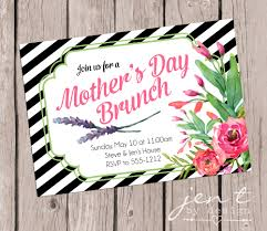 s day brunch invitations classic black white paired with florals make these s day