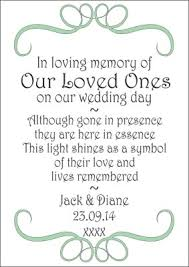 in loving memory wedding wedding in memory candle 14 99 personalised gifts ennis