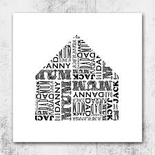 Shape House by Name Shape House Personalised Canvas Wall Art Canvas Wall Art