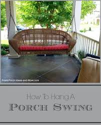 hang a porch swing porch swings