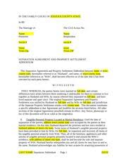 sample separation agreement addendum in the family court of