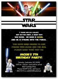 birthday invites anime and lego star wars party invitations