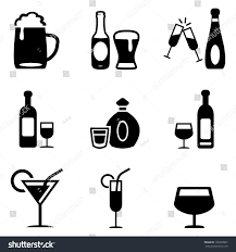 alcoholic drinks clipart alcoholic drinks icons stock vector 130328801 shutterstock
