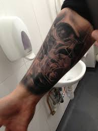 half sleeve ideas skull roses big tattoo planet community forum