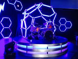 dmx led strip lights led hexagons church stage design ideas