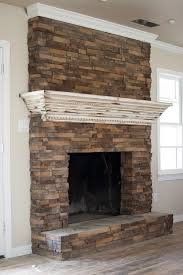 fireplace update create a mantle that slips over the top of the existing brick and