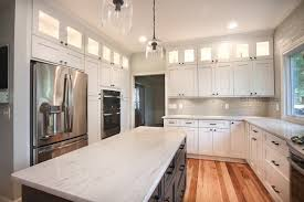 ice white shaker with downtown dark cabinets in dublin ohio