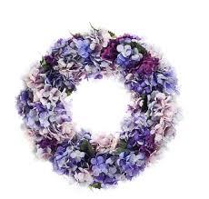 hydrangea wreath purple hydrangea wreath