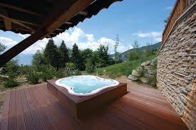 tub on deck ideas best underground deck tub and l shaped