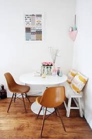 Kitchen Table For Small Spaces Table Against The Wall Two Chairs One Bench Seat Seating For