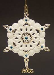 lenox china snowflake ornament at replacements ltd