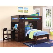 Twin Size Loft Bed With Desk by Acme Furniture Lars Loft Bed Wenge Hayneedle