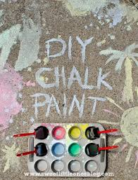 sweet little ones sidewalk chalk fun diy chalk paint