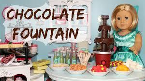 diy american doll chocolate fountain youtube