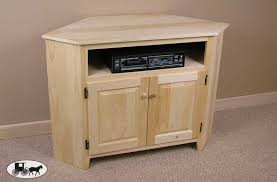Unfinished Tv Armoire Corner Tv Stand The Wood Carte Real Wood Furniture Amish