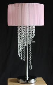 Bedroom Light Shades Lamps Crystal Look Table Lamp For Bedroom Decor Glass Table