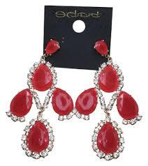 rhinestone chandelier earrings bebe orange gold rhinestone chandelier earrings tradesy