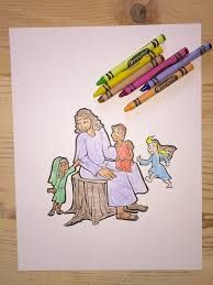jesus and the children coloring page u2013 children u0027s ministry deals