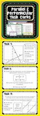 parallel and perpendicular lines task cards equation student